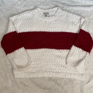 Knox rose sweater color block red white XL